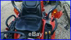 2012 Kubota bx25 open cab mini backhoe compact tractor