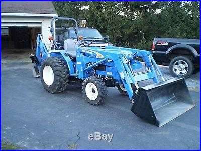 2012 New Holland Compact Tractor Loader Backhoe Only 56 Hours Warranty