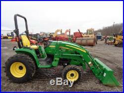 2013 John Deere 3320 Tractor, 4WD, JD H165 Loader, Hydro, 32HP DIesel, 196 Hours