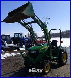 2013 John Deere 3320 eHydro Hydrostatic MFWD Tractor 300CX Loader 3pt