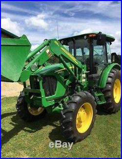 2013 John Deere 5083E Tractor With a JD Loader Model 553 Mirror Pkg A/C Heat
