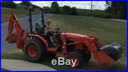 2013 Kubota B3200 Compact 4x4 Tractor Loader Backhoe Landscaping Package Trailer