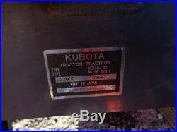 2013 Kubota L3200 Tractor, LA524FL SSL QA, BH77 Backhoe, 32HP, R1 Tires, 753 Hrs