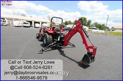 2013 Mahindra Diesel Tractor 3016 Backhoe Hydrostatic Loader Bushog 4x4
