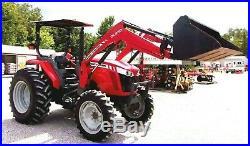 2013 Massey Ferguson 4608 4x4 Loader-Lo Hrs-Delivery @ $1.85 per loaded mile