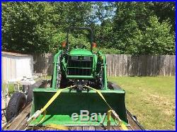 2013 john deere 3032e 4x4 32hp compact 305 loader 300 hrs box blade diesel 3 cyl