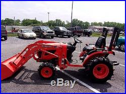 2014 KUBOTA B2320 4X4 COMPACT TRACTOR With LOADER Only 34 HOURS