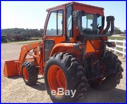 2014 KUBOTA L3240-HST UTILITY FARM TRACTOR with L724 LOADER 72 BUCKET & CAB 4X4