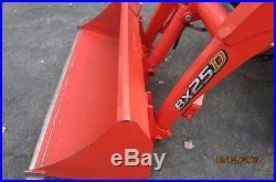 2014 Kubota BX25 BX25D 4x4 Hydro Tractor Loader Backhoe Snow Plow 3 pt york rake