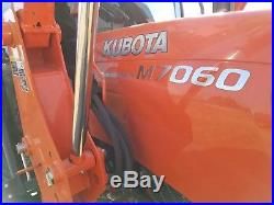 2014 Kubota M7060 Tractor With Cab And Loader 4x4 (70hp)
