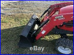 2014 MASSEY FERGUSON GC1705 COMPACT TRACTOR With LOADER. 4X4. DIESEL. 422 HRS