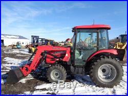 2014 Mahindra 6010 Tractor, Cab/Heat/Air, 4WD, ML156 FL SSL QA, Hydro, 304 HRS