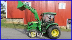 2015 JOHN DEERE 4066R 4X4 COMPACT LOADER TRACTOR With CAB 66HP DIESEL HYDROSTATIC