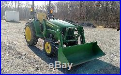2015 John Deere 3032E Tractor 4x4 Loader