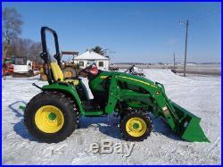 2015 John Deere 3033R Tractor, 4WD, Hydro, 300R Loader, R4, 111 Hours, VERY NICE