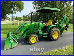 2015 John Deere 3033R Tractor H165 Loader 375A Backhoe