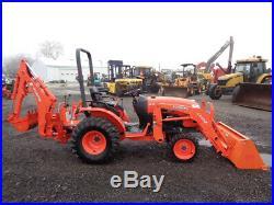 2015 Kubota B2650 Tractor, 4WD, LA534 Loader, BH77 Backhoe, Hydro, R4, 119 Hours