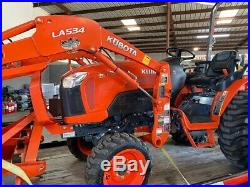 2015 Kubota B3350 4x4 Hydro Compact Tractor Package Only 33 Hours