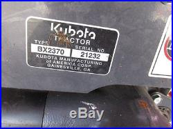 2015 Kubota BX2370 4x4 Hydro Compact Tractor With Loader