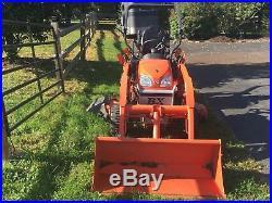 2015 Kubota Bx25d Tractor Loader Backhoe, Mower And Extras