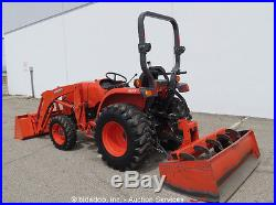 2015 Kubota L3301HST 4WD Diesel Utility Tractor Loader Box Scraper PTO Ag Farm