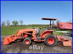 2015 Kubota L5060 Tractor, LA1055FL SSL QA, 4WD, GST, BB1572 Box Blade, 595 Hrs
