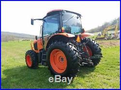 2015 Kubota M110GX Tractor Diesel Farm Ag Machine AC Heat 110hp 4x4 New tires