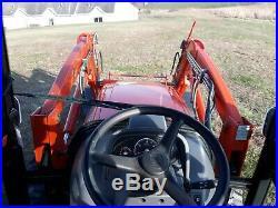 2016 Kioti NX4510 cab tractor KL6010 loader 45 hp diesel 4x4 HST used 451 hr