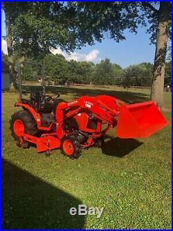 2016 Kubota B3350HSD, w L534 Loader, 72 Belly Mower, 4x4, Hydro, 289 Hrs