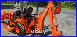 2016 Kubota BX25DLB Compact Loader Tractor WithMower & Backhoe 147 Hours! Nice