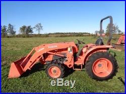 2016 Kubota L3901 Tractor, 4WD, Hydro, LA525 Loader, 279 Hours
