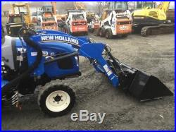 2016 New Holland Workmaster 37 4x4 Diesel Compact Tractor with Loader Only 100Hrs