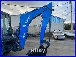 2016 TEREX TLB840R 4x4 Tractor Loader Backhoe with Cab AC/HEAT Pilot Controls