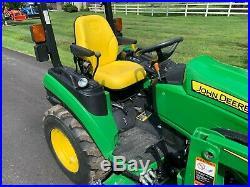 2017 John Deere 2025r Tractor 120r Loader 54D Mower