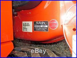 2017 Kubota BX2670 4WD Tractor, 54 Deck, LA243 Loader, 3 Bagger Blower, 37hrs