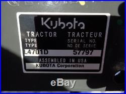 2017 Kubota L4701 Tractor, 4WD, LA765 Loader SSL QA, Gear Drive, 133 Hours