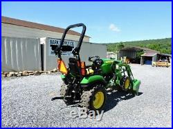 2018 John Deere 2025R Sub Compact Tractor Loader 3 Point Hitch 90 HOURS Warranty