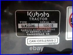2018 Kubota Bx2380 Compact Tractor With Loader And Mower 190 Hours 4x4 3 Point