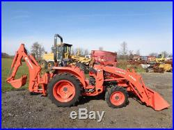 2018 Kubota L2501 Tractor, LA525 Loader, BH77 Backhoe, 4WD, ONLY 58 hours