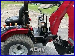 2018 Mahindra Emax 22s loader backhoe