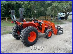 2019 KUBOTA L2501 TRACTOR With LOADER GRAPPLE ONLY 75 HOURS UNDER WARRANTY