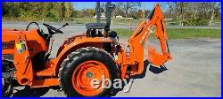 2019 Kubota L3901D Compact Loader Tractor WithBackhoe Only 68 Hours! Warranty