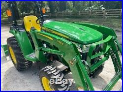 2020 JOHN DEERE 3025E TRACTOR With LOADER FORKS BOX BLADE PACKAGE