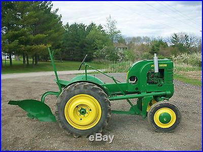 40 John Deere L Antique Tractor NO RESERVE RARE REAR WHEEL WEIGHTS Original Plow