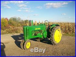 46 John Deere B Antique Tractor Long Hood NO RESERVE A G M H D L farmall oliver