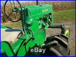 49 John Deere M Antique Tractor NO RESERVE Woods Mower A B G D H farmall oliver