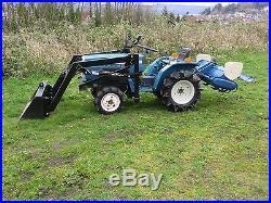 4WD Mitsubishi Tractor, New Loader, 4' Tiller, 4x4 3 Cylinder Diesel