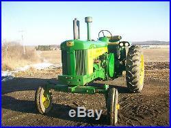 59 John Deere 730 Electric Start Diesel Antique Tractor Wide Front Front Weights