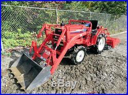 Agricultural Farm Tractor 4WD 3 Spd Diesel Engine PTO Ag 49 Tiller 40 Loader
