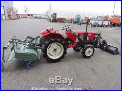 Agricultural Farm Utility Tractor 47 Loader 62 Rear Tiller 4WD 3Spd Diesel PTO
